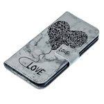 JAWSEU Coque Etui LG Q6 Portefeuille Cuir à Rabat, Luxe Mode Coeur d'amour Marbre Étui Ultra Mince Leather PU Wallet Flip Case Stand Magnetique Bumper Case de la marque JAWSEU image 2 produit