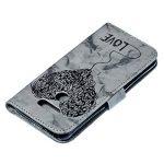 JAWSEU Coque Etui LG Q6 Portefeuille Cuir à Rabat, Luxe Mode Coeur d'amour Marbre Étui Ultra Mince Leather PU Wallet Flip Case Stand Magnetique Bumper Case de la marque JAWSEU image 3 produit