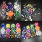 Joligel AB Résine Epoxy Transparent 400 ml + 13 couleurs de pigment + moule pour pendentifs (12 formes) + 48 décorations (paillettes + papier glassine + fleurs séchées + fleurs de corail) + pinces de la marque Joligel image 4 produit