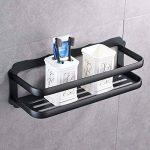 Kelelife Panier de douche Peinture noire, en métal de bain étagère à suspendre Organiseur, autocollant Panier pour salle de bain de la marque Kelelife image 2 produit