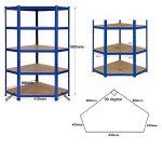 Kit d'étagères de garage en coin ultra-résistantes - 1 élément en coin de 1800x 900x 450mm et 2éléments d'étagères de 1800 x 900 x 450mm (H x l x P) - Grande capacité de stockage de 4125kg de la marque Racking Solutions image 1 produit