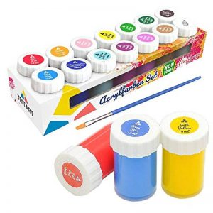Kit de couleurs acryliques pour enfants et adultes - Set de 14peintures acryliques Tritart de la marque Tritart image 0 produit