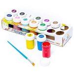 Kit de couleurs acryliques pour enfants et adultes - Set de 14peintures acryliques Tritart de la marque Tritart image 4 produit