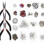 Kit de fabrication bijoux - Creation de bijoux avec 3 Pinces set, 10 câbles multicolores ,8 boîtes de perles ,12 Argent Plaqué Apprêts ,1 pendentif en coeur pour Colliers Boucles d'Oreilles et Bracelets de la marque Kurtzy image 1 produit