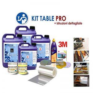 KIT TABLE PRO POUR CREER LA TABLE EN BOIS ET LA RIVIERE EPOXY RIVER AVEC DES INSTRUCTIONS DÉTAILLÉES de la marque RESIN PRO image 0 produit