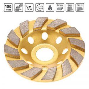 """KKmoon 100mm 4"""" Segment de Diamant en Roue Hélicoïdale Disque-lime 22mm Diamètre Intérieur de la marque KKmoon image 0 produit"""