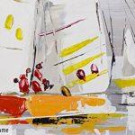 KunstLoft® tableau peinture sur toile à l'huile 'Les sept mers' 150x50cm | tableau acrylique peint à la main | Toile sur cadre bois | Bateaux à voiles haute mer naviguer de la marque KunstLoft image 1 produit