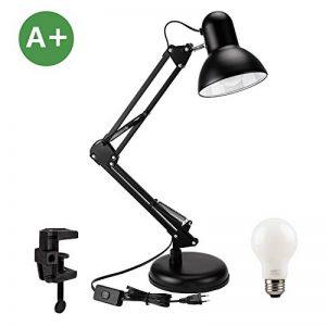 Lampe de Bureau LED avec Bras Pliable, Aglaia Lampe de Table avec option Serre-joint, pince ou base, Lampe de Table, Lampe de Chevet, Lampe d'architecture, lampe rétro, lampe design Culot E27 de la marque Aglaia image 0 produit