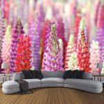LANYU Papier Peint, Papier Photo 3D Moderne Personnalisé Adapté pour Le Papier Peint De Mur De Chambre À Coucher De Belle Fleur De Violet De Papier Peint D'Intérieur, 320 * 240Cm de la marque LANYU image 3 produit