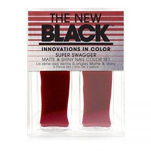 Le nouveau noir/Super Swagger/Bordeaux/crème brillance Mat et Brillant Vernis à ongles couleur Duo–Lot de 3 de la marque The-New-Black image 0 produit