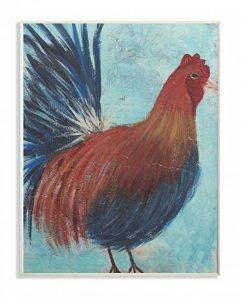 Le Stupell Home Decor Collection Coq Peinture Vieilli Surface Plaque Murale Art, Bois, Multicolore, 25.4x 64.52x 38.1cm de la marque The-Stupell-Home-Decor-Collection image 0 produit