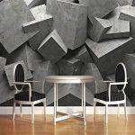 LHDLily 3D Papier peint Wallpaper Fresque Mural Panneau D'Art En Brique De Béton Géométrique Toile De Fond TV Parloir Chambre à Coucher 400cmX300cm de la marque LHDLily image 1 produit