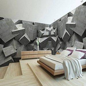 LHDLily 3D Papier peint Wallpaper Fresque Mural Panneau D'Art En Brique De Béton Géométrique Toile De Fond TV Parloir Chambre à Coucher 400cmX300cm de la marque LHDLily image 0 produit