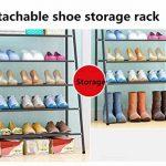 LHY SAVE 5 Niveaux Métal Etagere Chaussure Stable Rangement Chaussure Économiser De l'espace A Monter Range Chaussures pour Chambre à Coucher,Noir,65 * 33 * 101cm de la marque LHY SAVE image 3 produit