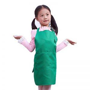 LissomPlume Tablier De Peinture à Deux Poches Enfant Fille Blouse Peinture Tablier Cuisine Cuisson Garçon de la marque LissomPlume image 0 produit