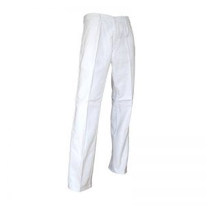 LMA 100144 PINCEAU Pantalon de peintre Braguette à Boutons Blanc, Taille 38 de la marque LMA image 0 produit