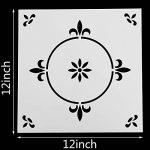 Locolo Lot de 3 pochoirs mandalas réutilisables 30,5 x 30,5 cm pour carrelage de sol pour meubles de sol, peinture en bois, bricolage, décoration d'intérieur, dessin de la marque LOCOLO image 2 produit