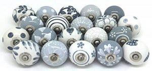 Lot de 20 boutons de tiroir, en céramique, peints à la main. de la marque JSR image 0 produit
