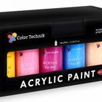Lots de 18 flacons de peinture acrylique Color Technik 59 ml Les meilleures couleurs pour la peinture sur toile, bois, argile, tissu, Nail Art et céramique - Chargée de pigments -Coffret cadeau inclus de la marque Color-Technik image 4 produit