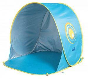 LUDI - Tente de plage avec Protection UV 50. Dès 10 mois. Structure pop-up légère, se plie et se range facilement dans un sac. Dimension : 105 x 90 x 100 cm. Fournie avec 4 fixations au sol. - 2304 de la marque Ludi image 0 produit