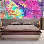 luludsoo Abstrait Graffiti 3D peintures murales Brique 3D Chambre Papier Peint Visage féminin pour 3D Salon Papier Photo Mural Imprime Enfants Chambre Murale Peinture Rolls 250Cm (W) X175Cm (H) de la marque luludsoo image 2 produit