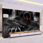 luludsoo Crâne Squelette Murale Papier Peint 3D Mur De Plafond De Mur pour Bébé Chambre Enfants Fond 3D Mur Photo Murale Wall Sticker 274Cm (W) X254Cm (H) de la marque luludsoo image 1 produit