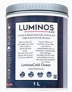 Luminos Cold. LUM1151 - OCEAN - Lasure Protecteur du bois. Reflète les rayons infrarouges. Blue Ocean.1L de la marque Luminos image 0 produit