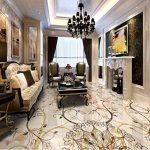 lxsart Revêtement de sol 3D Carrelage mosaïque pierre chambre salon cuisine autocollant papier peint 3D imperméable pour le sol-400cmx280cm de la marque Lxsart image 1 produit