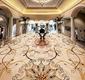 lxsart Revêtement de sol 3D Carrelage mosaïque pierre chambre salon cuisine autocollant papier peint 3D imperméable pour le sol-400cmx280cm de la marque Lxsart image 0 produit