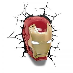Marvel Comics - Lampe Applique Murale en forme de Masque Iron Man 3D de la marque 3D Light FX image 0 produit