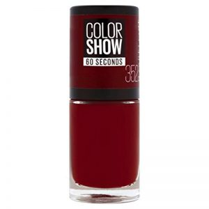 Maybelline New York Colorshow - Vernis à  ongles -352 Downtown Red - Rouge foncé de la marque Maybelline-New-York image 0 produit
