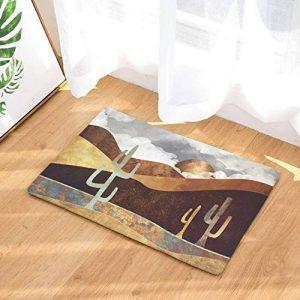 Mengjie Tapis de Bain antidérapants pour Tapis de Salle de Bains Tapis de Douche absorbants Désert de Peinture Lavable en Machine en Microfibre,50 * 80cm de la marque Mengjie image 0 produit