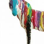 Meubletmoi Zèbre Statue décoration - Couleur laquée Jets de Peinture Multicolore - Objet Design Moderne de la marque Meubletmoi image 1 produit