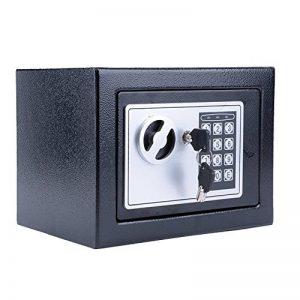 Meykey Coffre fort de Securite Électronique 23×17×17cm, Coffre-fort Numérique avec 4 Piles, Noir de la marque Meykey image 0 produit