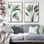 MINRAN DECOR Toile sans Cadre Toile Impression Vert Plante Feuille Verte Décoration Peinture Restaurant Chambre Canapé Contexte Mur, Green Leaf 1, 30x40cm de la marque MINRAN DECOR image 3 produit