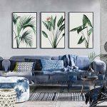 MINRAN DECOR Toile sans Cadre Toile Impression Vert Plante Feuille Verte Décoration Peinture Restaurant Chambre Canapé Contexte Mur, Green Leaf 1, 30x40cm de la marque MINRAN DECOR image 4 produit