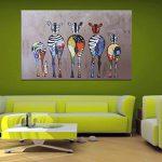 Moderne Peinture sur toile 50*70cm Couleur Motif zèbres Peinture à l'huile abstraite moderne sur toile Décoration murale de la marque XIAOWANG image 1 produit