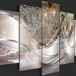 murando Impression sur Toile intissee Abstrait Fleurs 200x100 cm 5 Parties Tableau Tableaux Decoration Murale Photo Image Artistique Photographie Graphique Pissenlit a-C-0087-b-n de la marque murando image 2 produit