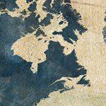 murando Impression sur Toile intissee Carte du Monde 200x80 cm Tableau 5 Parties Tableaux Decoration Murale Photo Image Artistique Photographie Graphique Rose Karte Nautisch k-A-0415-b-m de la marque murando image 3 produit