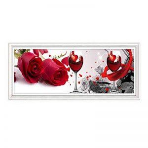 MXXTL DIY 5D Peinture De Diamant, Salon Rose Restaurant De Verre De Vin Point De Croix Peinture DéCorative Moderne Simple(sans Cadre) de la marque MXXTL image 0 produit