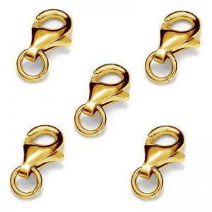 My-Bead fermoir mousqueton 5 pièces 9mm argent sterling 925 doré 24 carat avec oeillets 3mm qualité par bijoutier de la marque My-Bead image 0 produit