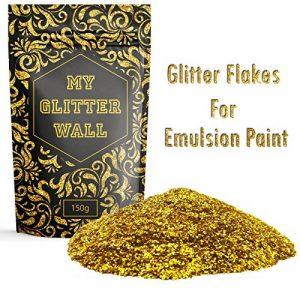 My Glitter Wall - Additif paillettes dorées pour peinture-émulsion; décorations murales intérieures et extérieures, 150g de la marque CrystalsRus image 0 produit