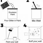«My Glitter Wall»- Additif paillettes pour peinture-émulsion couleur argent AB, pour décorations murales en intérieur et en extérieur (150g) de la marque CrystalsRus image 3 produit