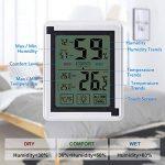 Nasharia Thermomètre hygromètre numérique d'intérieur - Bleu rétroéclairage, détecteur de température/d'humidité à écran Tactile LCD (Alimenté par Batterie) de la marque Nasharia image 1 produit