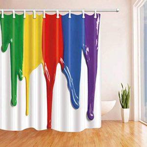 NBE Élégant et Simple 3D Impression Couleur coloré Peinture Salle de Bains Rideau de Douche imperméable et Anti-moisissure (Rideau de Douche Polyester Taille: 180 * 210cm) de la marque NBE image 0 produit