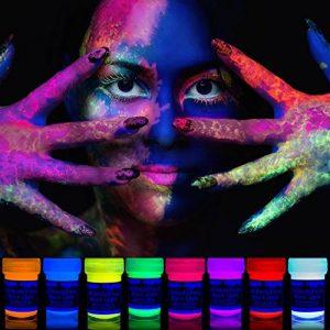 neon nights 8 x Peinture Corporelle-UV Maquillage Fluo Pour Lumière Noire de la marque neon-nights image 0 produit