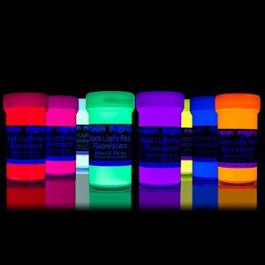 neon nights 8 x Peinture UV Fluorescente Pour Lumière Noire de la marque neon nights image 0 produit