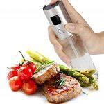 Nifogo Huile Pulvérisateur Bouteille, Huile d'olive Distributeur Alimentaire Transparent vinaigre Bouteille en Verre(2 Bouteille d'huile en Verre 100ML+Brosse de Nettoyage) de la marque Nifogo image 1 produit