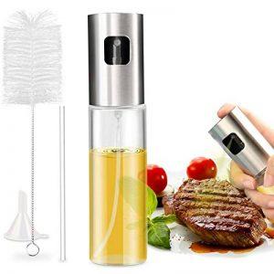 Nivlan Pulvérisateur d'huile pour la Cuisine, Bouteille de Vaporisateur de pulvérisation de vinaigre d'huile avec Acier Inoxydable de première qualité et Verre de qualité Alimentaire de la marque Nivlan image 0 produit