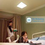Oeegoo 24W LED plafonnier IP44 salle de bains luminaire humide sous-sol luminaire 2050 Lumens salle de bains lampe pour les cuisines salon salle de bains d'hôtel couloir blanc neutre 4000K-4500K de la marque Oeegoo image 1 produit